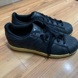 Adidas Ortholite black Gold Shoes Size 7 5.5